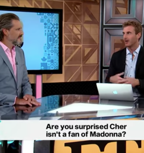 Watch these two clueless TV reporters try to understand the feud between Cher and Madonna