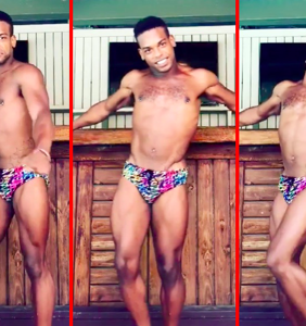 Man in tropical speedo recreates Lindsay Lohan's Mykonos dance routine to perfection