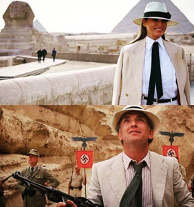 Memers drag Melania Trump for going to Egypt dressed like a Nazi colonizer