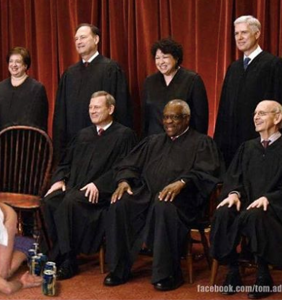 Brett Kavanaugh's first day at his new job on the Supreme Court has already been memed for eternity