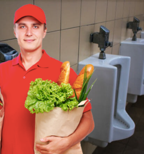 "Grocer ""horrified"" after walking in on 12-man orgy in public restroom, may never recover from shock"