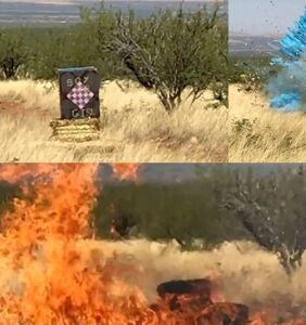 WATCH: New video shows exact moment a gender reveal party started a 47,000 acre wildfire