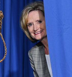 Sen. Cindy Hyde-Smith hates gays, loves voter suppression, and thinks hanging black people is funny
