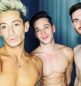 "Frankie Grande dishes on being in a thruple, says ""the triangle is the strongest shape"""