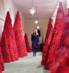 Melania's latest White House Christmas hellscape documented for all eternity with terrifying memes