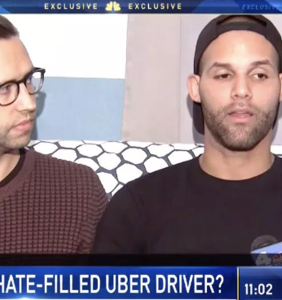 Uber driver drags man along the side of the road as his husband watches in horror