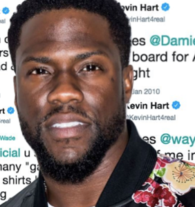 Oscars host Kevin Hart has been frantically deleting homophobic tweets from his Twitter page