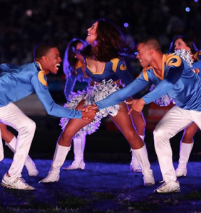 These two male cheerleaders will make history when they perform at next month's Super Bowl