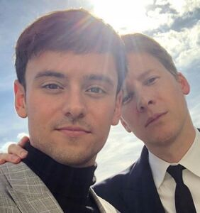 Dustin Lance Black was barred from a Tom Daley diving event. You'll never guess why.