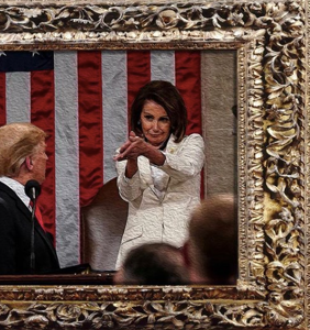 """Nancy Pelosi's """"f*ck you"""" clap to Donald Trump has been immortalized in memes for posterity"""