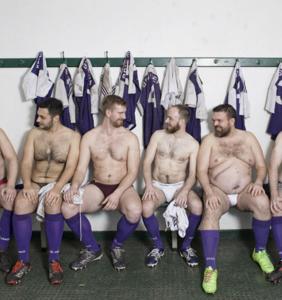 Sneak a peek inside the locker room of the Berlin Bruisers gay rugby club