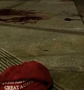 Guy in 'MAGA' hat allegedly attacks victim with sword, screams homophobic slurs