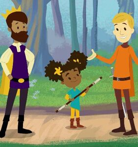 WATCH: Hulu unveils new children's series about a medieval girl with two dads