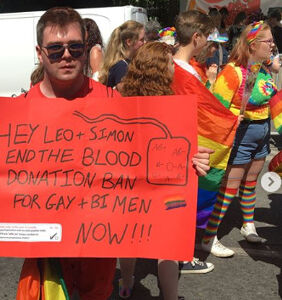 Ireland won't let gay men donate blood. One man wants to change that.