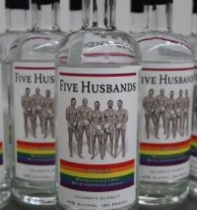 """Utah company releases officially gay vodka """"Five Husbands"""""""