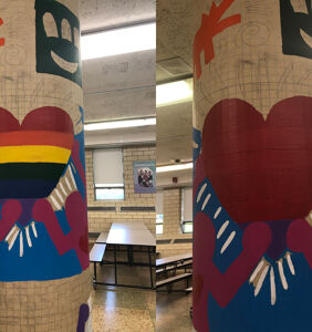 The Catholic Church forced a public school to paint over a student's pro-LGBTQ mural