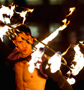 San Francisco's Liam Ocean plays with fire, and we can't look away