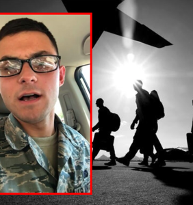 Airman posts series of deeply disturbing videos of himself shouting homophobic vitriol into camera