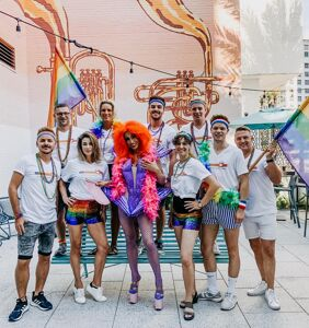 This airline brought its gay flight team to celebrate New Orleans Pride