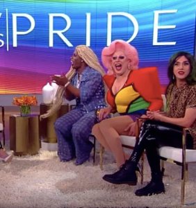 """Meghan McCain interviewed three drag queens on """"The View"""" for Pride and people weren't having it"""