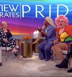 "Meghan McCain interviewed three drag queens on ""The View"" for Pride and people weren't having it"