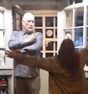 WATCH: Drunk woman slaps gay man & calls him a 'fat f*ggot' in disturbing video