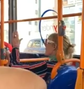 WATCH: Bus driver and passengers clap back at woman's homophobic rant