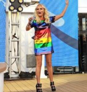 Kristin Chenoweth singing showtunes on a gay cruise in this dress is next level