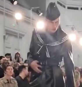 Watch: This male model's insane runway walk has captured the internet's attention