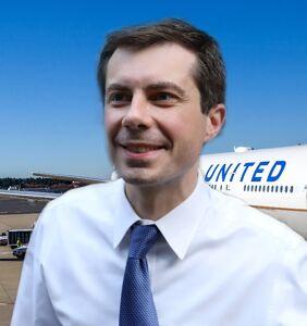 Pete Buttigieg got quite the surprise on his flight to Houston