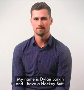 Company that made Dylan Larkin's butt an internet sensation says it was totally unintentional