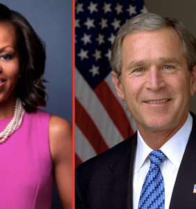 Everyone's pissed at Ellen for being friends with George W. Bush… but what about Michelle Obama?