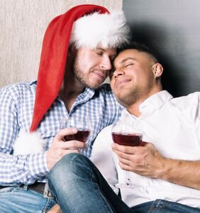 He'll be deployed for the holidays, so his boyfriend just gave him Christmas