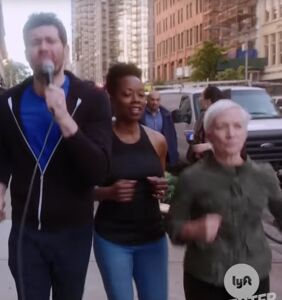 WATCH: Billy Eichner and Chris Evans harass New Yorkers with a bunch of lesbians