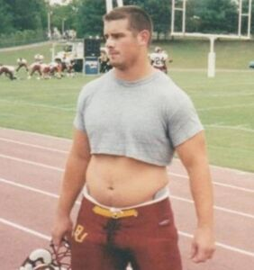 A reminder that politician Brian Sims used to be quite a football jock