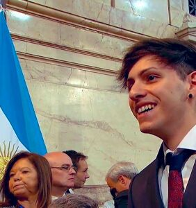 Drag queen son of Argentina's new president wears Pride Flag to inauguration