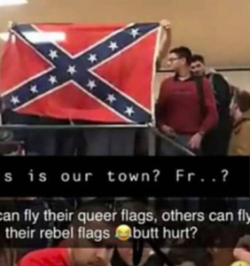 """Students fly Confederate flag to oppose """"queer flag"""", school says it's just a """"different viewpoint"""""""