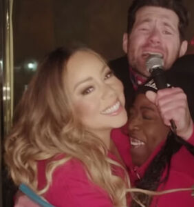 WATCH: Mariah Carey spreads holiday joy with Billy Eichner on NYC streets