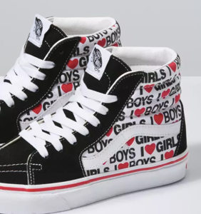 """The latest line of Vans """"I Heart"""" sneakers is giving off major bisexual energy"""