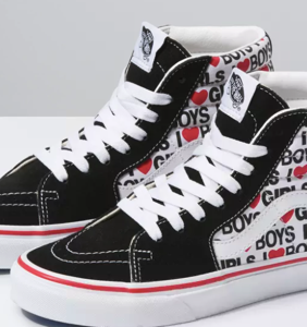 "The latest line of Vans ""I Heart"" sneakers is giving off major bisexual energy"
