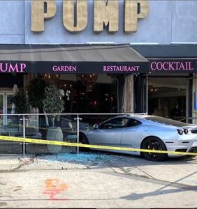 A Ferrari crashed into Lisa Vanderpump's restaurant in WeHo