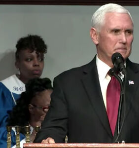 White House streams anti-gay church sermon at service attended by Mike Pence