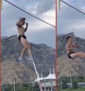 WATCH: College pole vaulter posts freak accident to TikTok, goes viral, needs 18 stitches