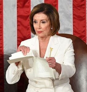 Nancy Pelosi ripped up Donald Trump's State of the Union address. And now, the memes...