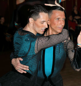 Same-sex ballroom champions dance at London's Pink Jukebox