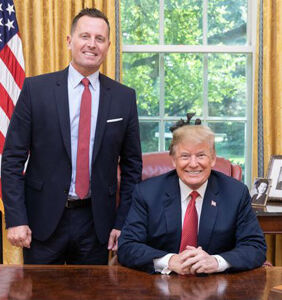 Conservatives are gunning for gay Trumpster Richard Grenell. Cue the eye rolls.