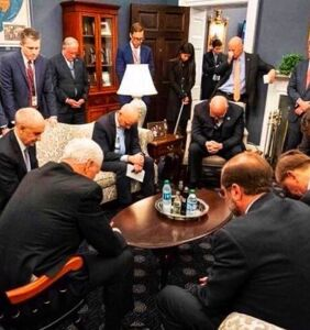 Like with HIV and homosexuality, Mike Pence believes the solution to coronavirus is to pray it away