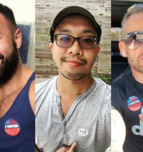 PHOTOS: Cute guys show off their Super Tuesday pride
