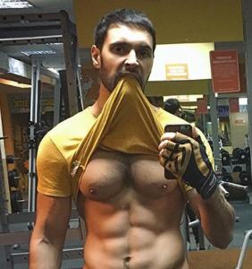 Don't let the Instagram page fool you, Ukrainian pop star Vitaliy Kozlovskiy insists he isn't gay