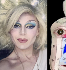 SF drag artist CaseFaace transforms into a bottle of Purell, and not a moment too soon